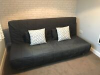 Ikea BEDDINGE sofabed with grey cover