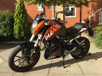 KTM Duke 12 sportster 125cc - low mileage, superb bike, ideal for learner or experienced riders