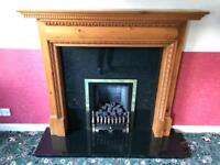 Fire surround hearth and gas fire