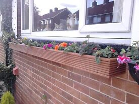 ****NEW WOODEN TREATED GARDEN FLOWER PLANTERS**** window box planter, many sizes many colours