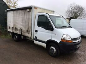 RENAULT MASTER ML35 DCi120 CURTAIN SIDE VAN, 3.5TON, 2008, MOT JAN 2018 DRIVES 100% CALL FOR DETAILS