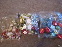 39 medium gift bows, 38 small and 9 gift wrap ribbon - new
