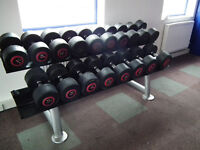 Dumbbell & Weight Rack - 9 Pairs 34kg to 50kg (756kg)
