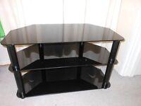 Black glassTV stand