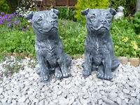 garden ornaments (staffie dogs) £10