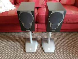 Mission mx1 speakers with alphason akro spiked stands