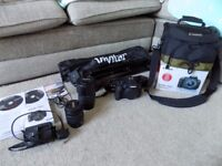 CAMERA CANON EOS-700D EF-S 18-55 IS STM KIT BOXED WITH TRIPOD BAG AND TAMRON 75-300 TELE-MACRO LENS