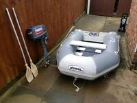 Phoenix dinghy and outboard