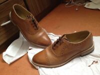 £50 Mens Tan colour shoes -size7 (UK), worn once. Still looks fresh from the box- bought from Next.