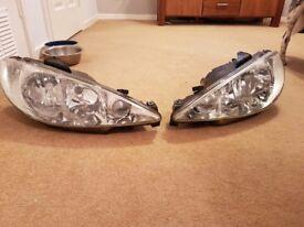 Peugeot 206 headlights