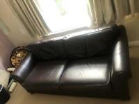 Leather M & S Sofa