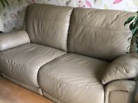 Leather 2 seater sofa in good condition