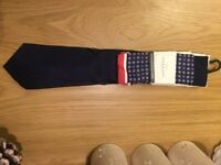 New with Tag Mens Tie Taylor&Hunt, dark navy, RRP£39