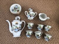 Vintage Japanese Tea Set with cups, saucers, teapot, milk and sugar bowl x 6 of each