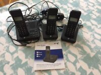 BT Freelance XB2500 telephone plus 2 extensions