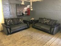 DFS SHANNON FABRIC SOFA SET IN GOOD CONDITION 3+2 seater