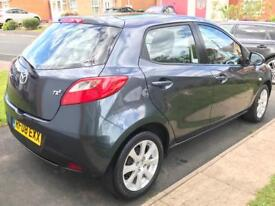 2008 08 Mazda 2 1.4 D TS2 Low Mileage Full MOT £30 Road Tax Diesel Cheap Insurance Pearl Paint