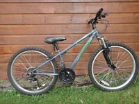 Apollo Switch 24 inch wheels bike 12 inch frame 18 gears front suspension, suit age 9 to 12 years