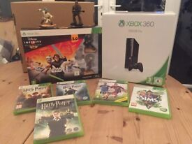 Xbox 360 500 GB console Disney Infinity 3.0 starter 3 HP , fifa 2015, sims