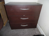 2 x Chest of 3 Large Drawers