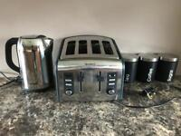 Breville kettle and toaster and canisters