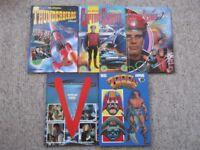 5 comic annuals - Captain Scarlet, Thunderbirds, 2000AD & V