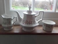 34 piece Johnson Bros Eternal Beau tea set plus other pieces