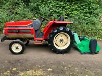 21HP Yanmar F215 2WD Compact Tractor & New Flail Mower *** WATCH VIDEO *** New 5ft Flail