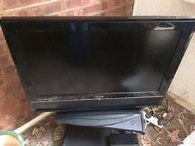 "32"" Television with Free View Box and Stand"