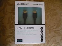 Sandstrom 1 Metre HDMI to HDMI cable BNIB