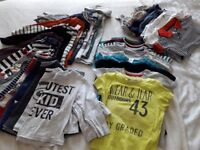 Boys tops and bodys 12-24 months