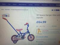 """10"""" Space Ranger Bike with steering handle"""