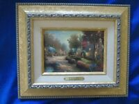 Thomas Kincade colour lithograph limited edition in frame, 'Cobblestone Lane.'