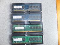 DESKTOP RAM Memory - 4 x 1GB PC2-5300U-555