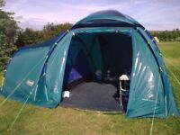 Tent Coleman Dome 4 man used twice air bed stove with grill