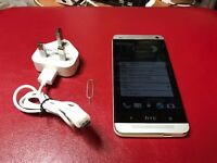HTC ONE M7 silver 32GB unlocked! excellent condition