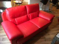 NEARLY NEW FAUX LEATHER SOFA'S FOR SALE