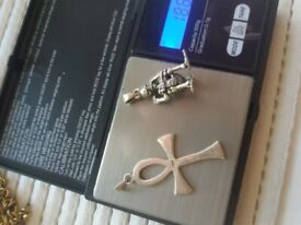 2 silver pendants