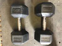 Dumb bells HEX rubber 30kg x2