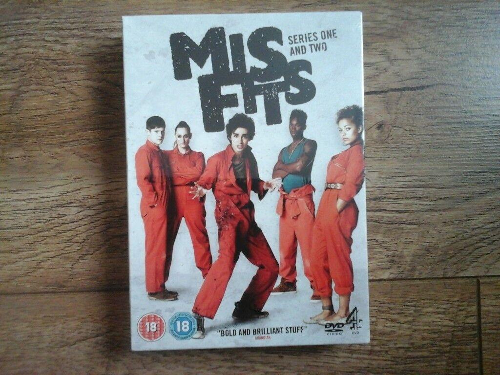 Brand new, still sealed MISFITS DVD box set series 1 & 2
