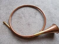 Vintage copper & brass hunting horn