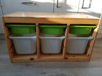 IKEA TROFAST storage cupboard with boxes