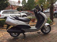 2003 peugeot elystar 125 scooter full mot running very well only £750