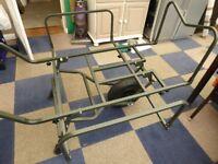 used twice fishing barrow/trolley