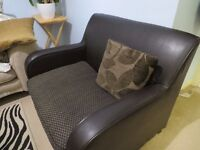 Dfs Leather Sofa Bed in excellent condition