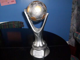 Large Heavy Football Trophy in Excellent Condition