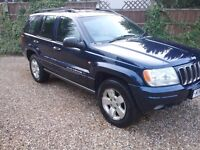 2001 JEEP GRAND CHEROKEE LIMITED 4X4. 4.0 PETROL. AUTO