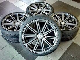 "a set of new 20"" wheels with tyres for BMW F10 / F11 E60 / E61 F30 5x120"