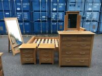 oak furniture land bedroom furniture Possible Delivery 100% Solid Oak Excellent Condition