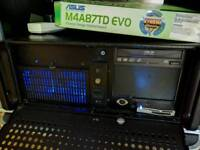 Rack mounted PC system Hex core SSD audio recording